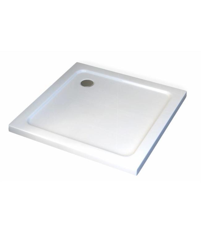 Sanitear 80x80 cm Antislip-Acryl  ,structuur oppervlak met douchebakafvoer