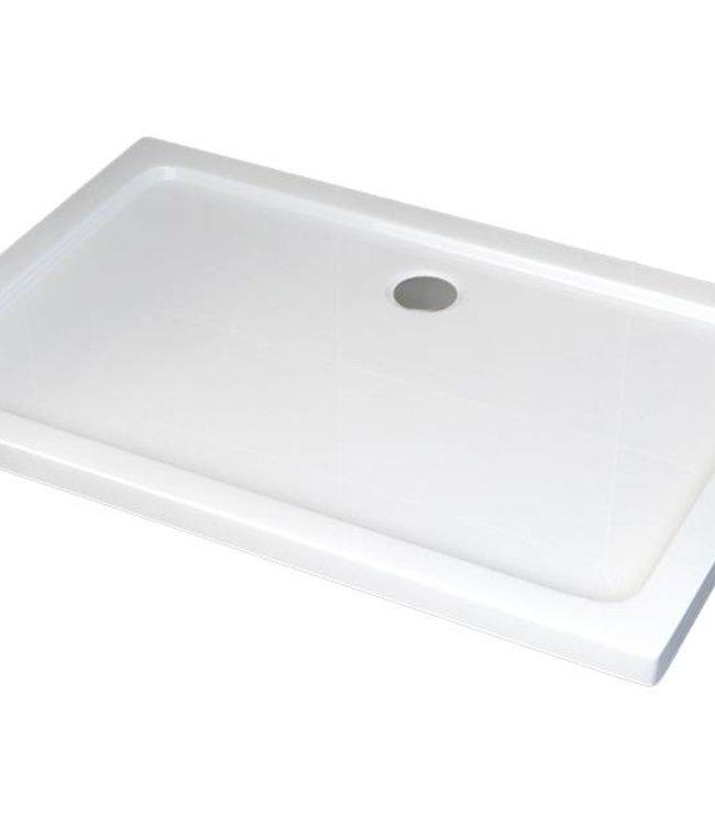 Sanitear 80x100 cm Antislip-Acryl  ,structuur oppervlak met douchebakafvoer