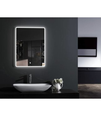 Sanitear Spiegel met led ( ingebouwd) verlichting 90 cm