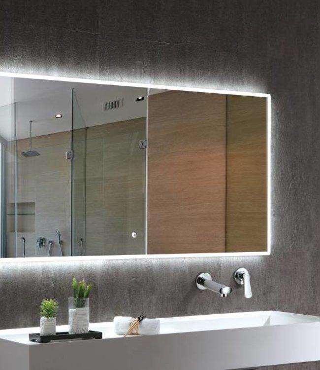 Como Spiegel met led verlichting ( ingebouwd)condensvrij met touch schakelaar: 160x70 cm