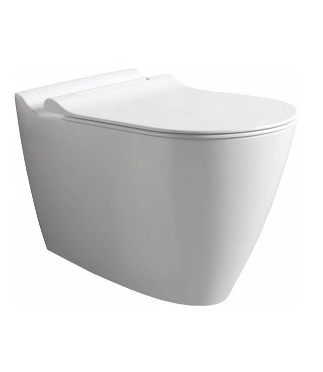 Sanitear MINERAAL hangtoilet zonder spoelrand wit mat