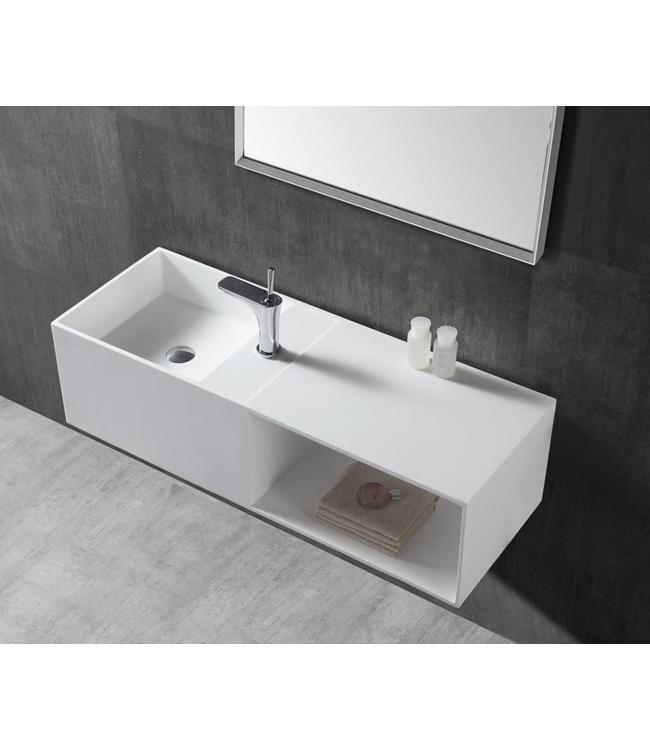 Sanitear Aanbieding!  Solid surface wastafel & badmeubel 110 x 40 x 30 cm
