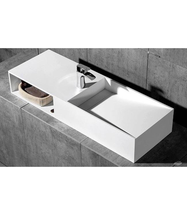 Sanitear Aanbieding!  Solid surface wastafel & badmeubel 120 x 42 x 20 cm -