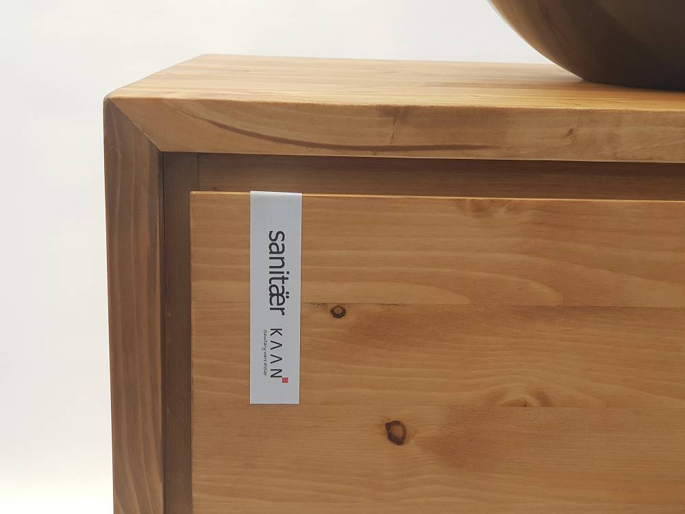 Houten Onderkast Badkamer : Badkamermeubel onderkast massieve hout laden softclose sanitear
