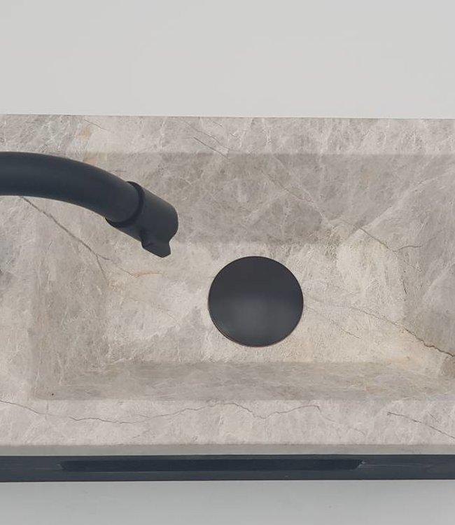 Como  40 x 20 x 16 cm Fonteinset toilet,marmer met massief hout planchet