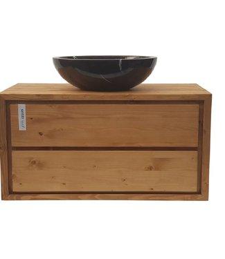 KAAN Sanitary ware atelier Badkamermeubel onderkast 100 cm massief hout 28 mm dikte
