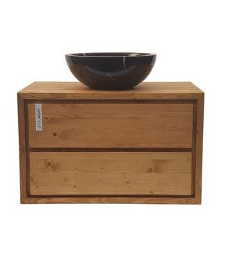 KAAN Sanitary ware atelier Badkamermeubel onderkast 80 cm - massief hout 28 mm dikte