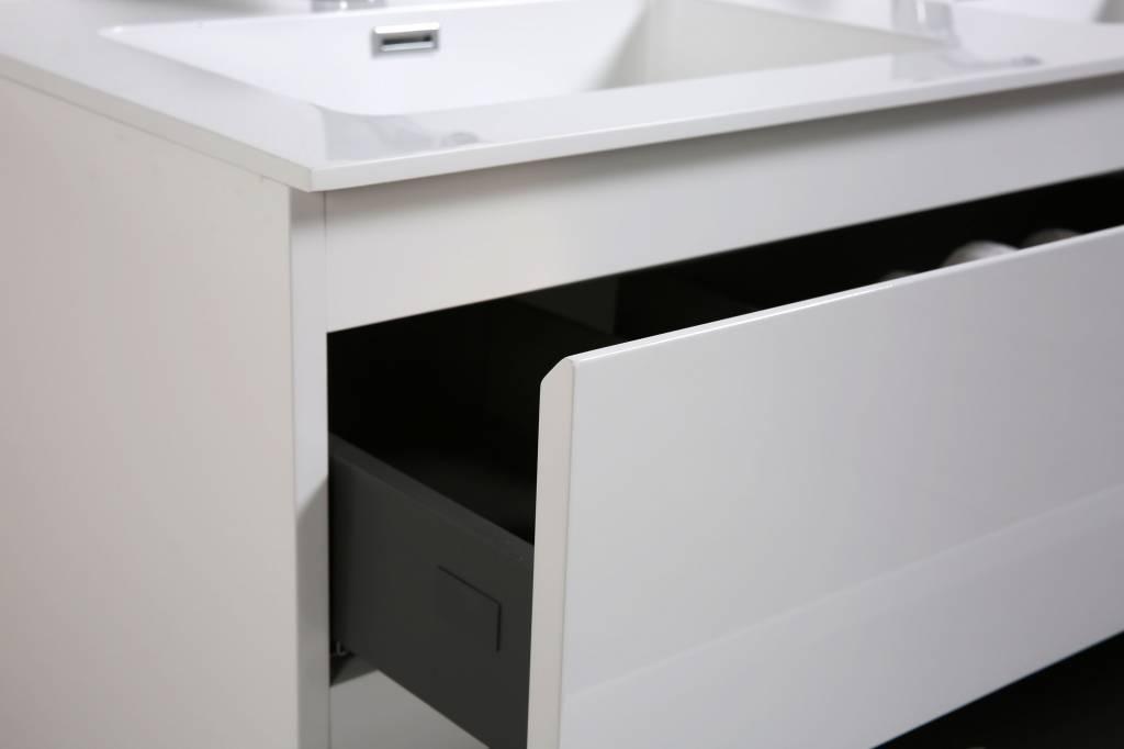 Mineraal Gegoten Wastafel : Badmeubel 120 cm dubbele wasbak sanitear