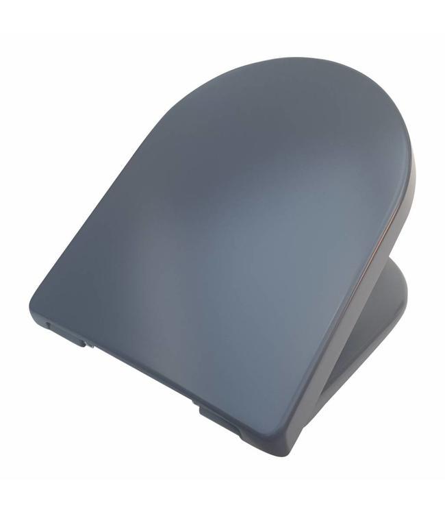 Sanitear Toiletbril softclose, Capri Carbon, afneembaar, Quick Release , mat antraciet