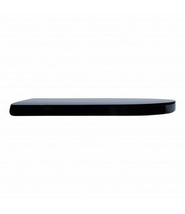 Sanitear  CAPRI  Selection 360 wc bril , zwart softclose, 15 mm totaal dikte!
