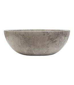 COMO Marmer waskom ,rond , Silver Grijs- ,35 cm
