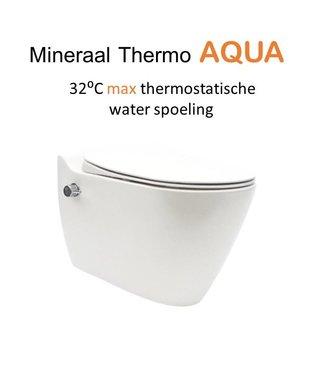 Sanitear MINERAAL THERMO AQUA ,THERMOSTATISCHE  WANDCLOSET MET BIDET.