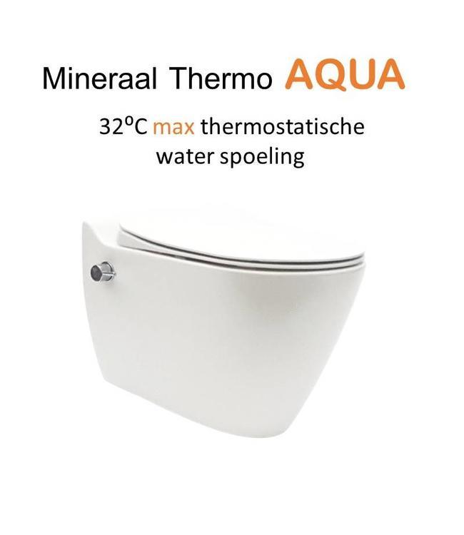 Sanitear MINERAAL THERMO AQUA, GEÏNTEGREERD THERMOSTATISCHE BIDET KRAAN  Mat  wit