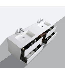 COMO CREA Wastafelonderkast 190 cm MAT WIT