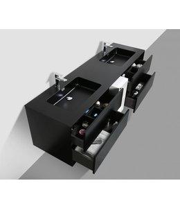 COMO CREA Wastafelonderkast 190 cm MAT ZWART