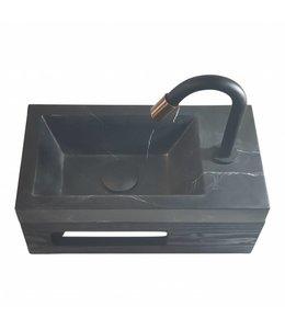 COMO Black'N Roses , fontein toilet