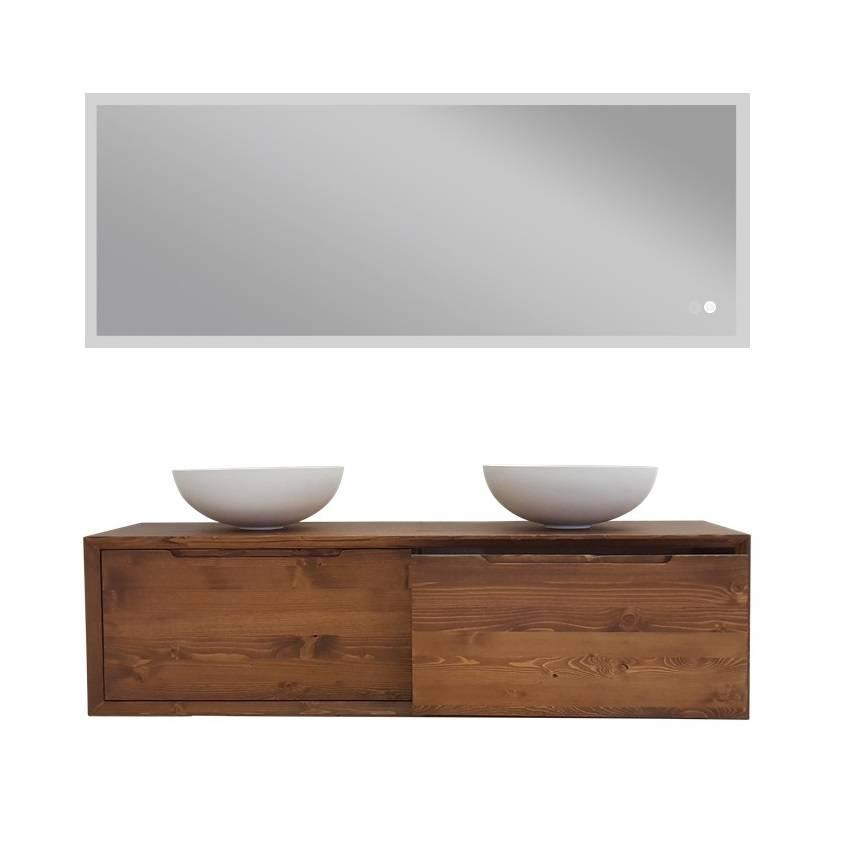 Fonkelnieuw Massieve hout badkamermeubel set 160 cm - Sanitear HR-07