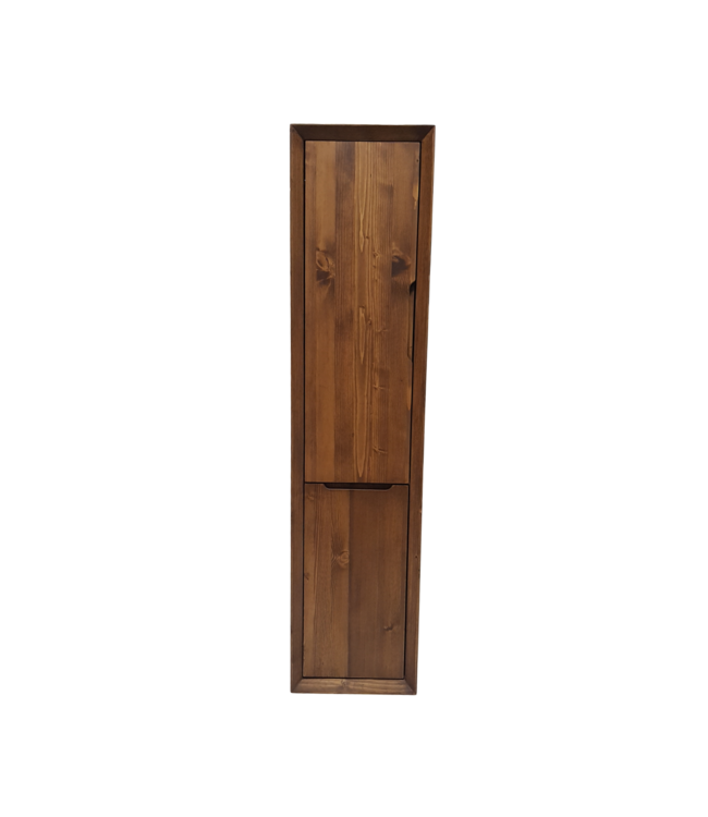 Como WOOD , kolomkast badkamer hout met wasmand