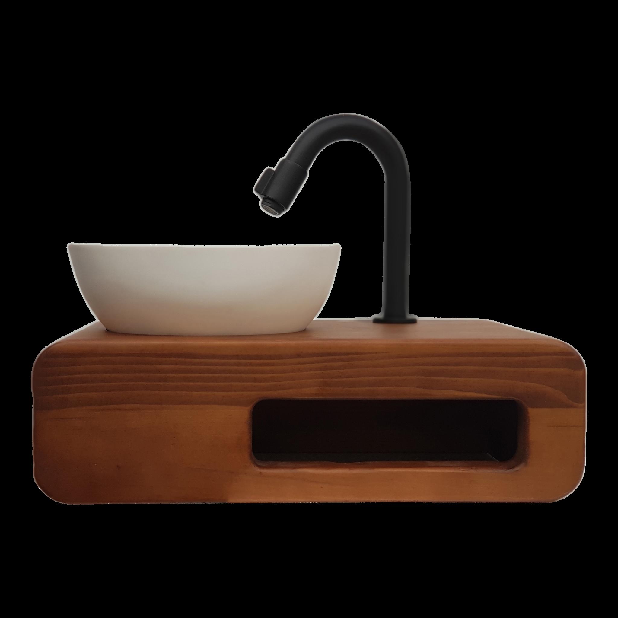 Toilet Wasbak Met Hout.Mini Fontein Toilet Hout