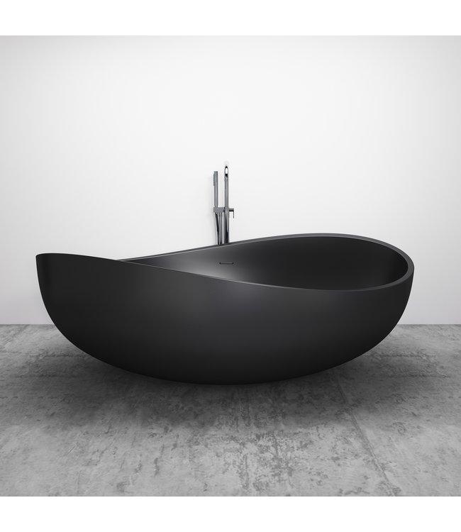 Como ligbad solid surface mat zwart