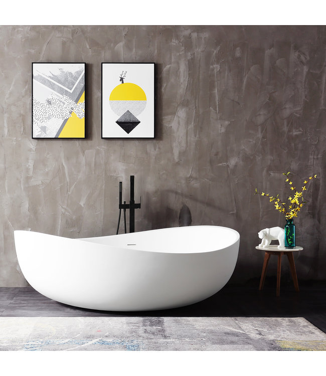 Como Lecco ligbad solid surface mat wit