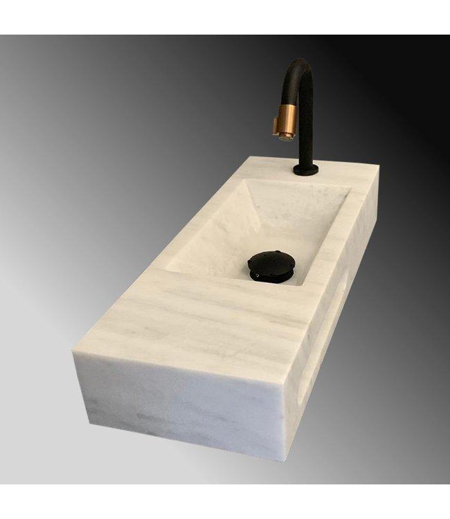 Como mono blok marmer met  handdoekhouder natuursteen wc fontein