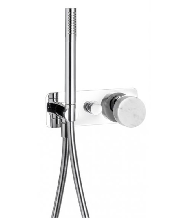 ib rubinetterie Inbouw doucheset 2 weg met marmer knob