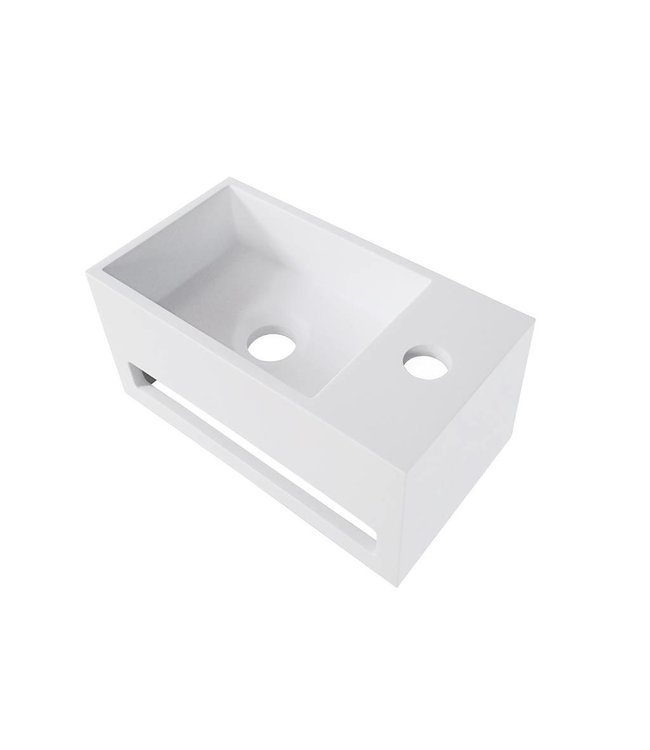 Como Solid surface losse fontein  35,6 x 20,3 x 15,9 cm