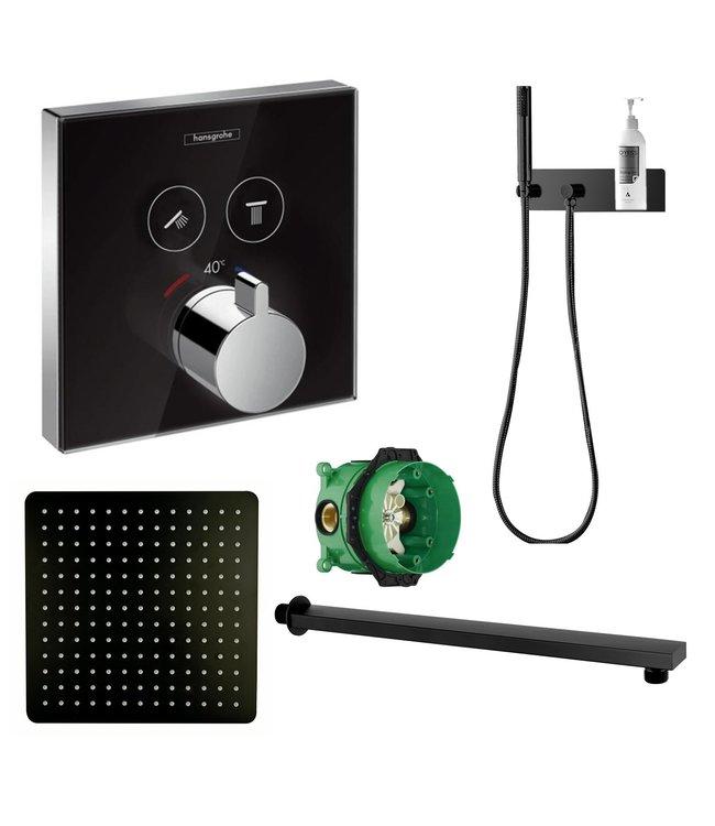 hansgrohe ShowerSelect inbouw douche-set, zwart