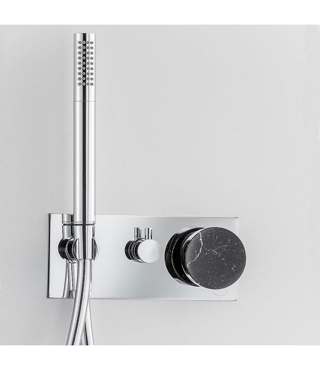 ib rubinetterie Inbouw douchekraan 2 weg met marmer knob,set
