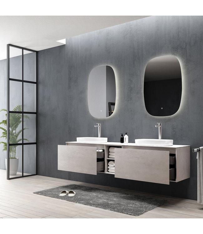 Como Emperio  Badkamermeubel  set 190 cm  beton effect