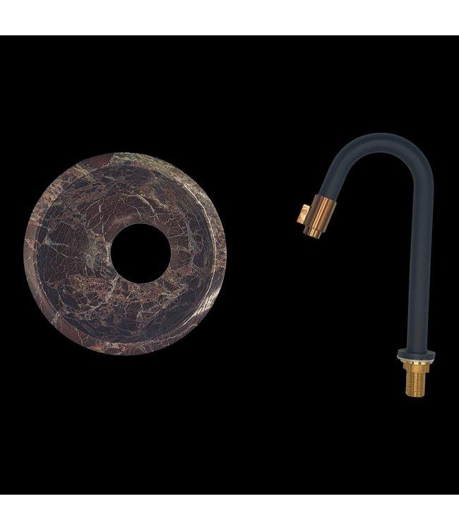 Como Rosso waskom natuursteen toilet 20 cm