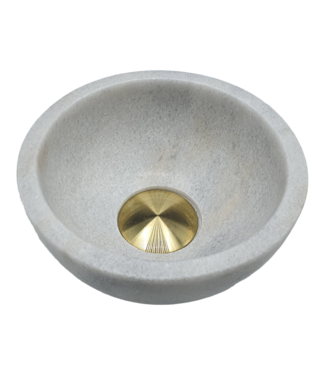 Como Lecce natuursteen waskom toilet 20 cm