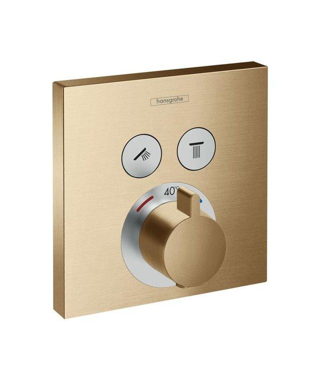 hansgrohe ShowerSelect  Inbouw douche thermostaatkraan geborsteld goud