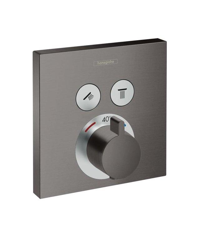 hansgrohe ShowerSelect  Inbouw douche thermostaatkraan geborsteld gunmetal