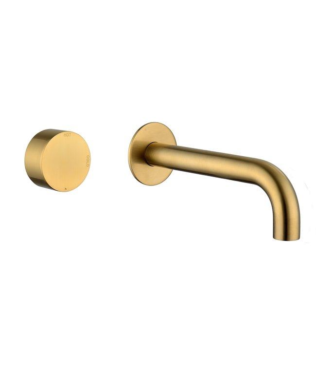 Como Wandkraan MOOD geborsteld goud 21 cm uitloop
