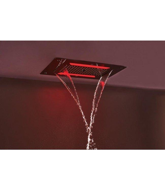 Como Hoofddouche waterval met led verlichting RVS