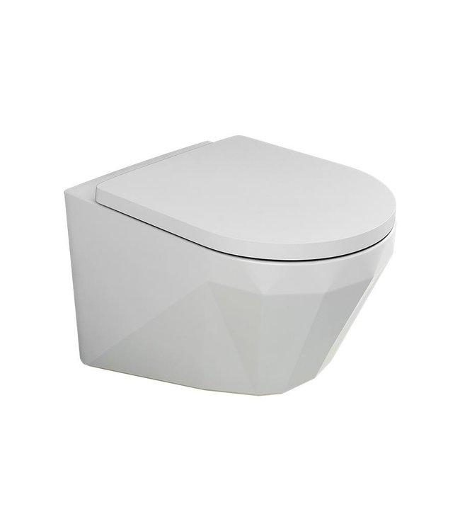 Sanitear Elemento hangtoilet compact zonder spoelrand