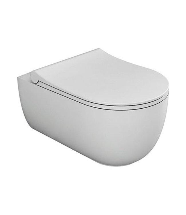 Sanitear ION hangtoilet randloos wit mat