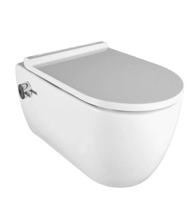 Sanitear ION wc met bidet zonder spoelrand incl soft close wc bril