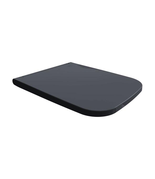 Sanitear   Rechthoekig toiletbril Elemento mat zwart