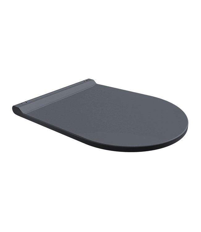 Sanitear ION antibacterieel toiletbril mat zwart softclose