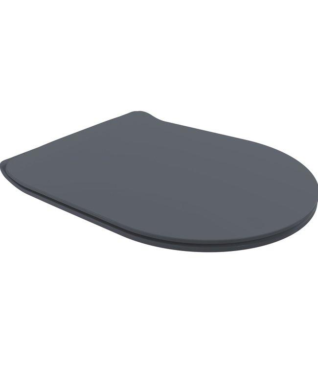 Sanitear Antibacterieel toiletbril zwart- softclose ION