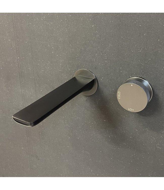 Como Wastafelkraan inbouw Mood 60 gunmetal met 21 cm vierkant uitloop