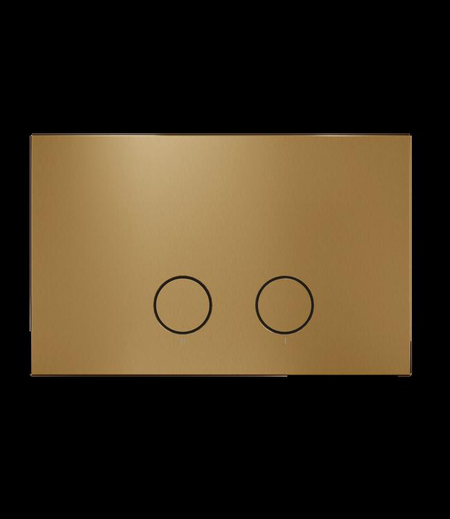 Como Mood drukplaat voor Geberit Up320 geborsteld messing goud