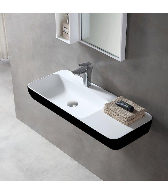 Sanitear Ophang wastafel solid surface 90 x 40 x 12 cm