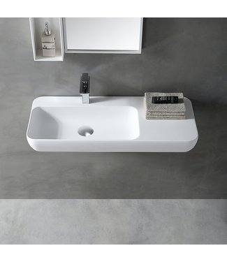 Sanitear Wastafel solid surface wit 90 cm
