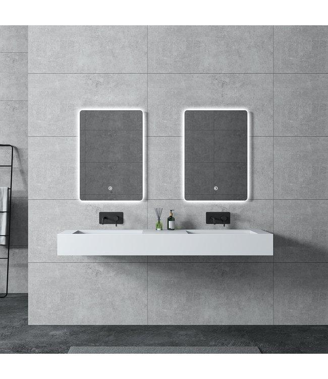 Sanitear Wastafel 155 cm solid surface