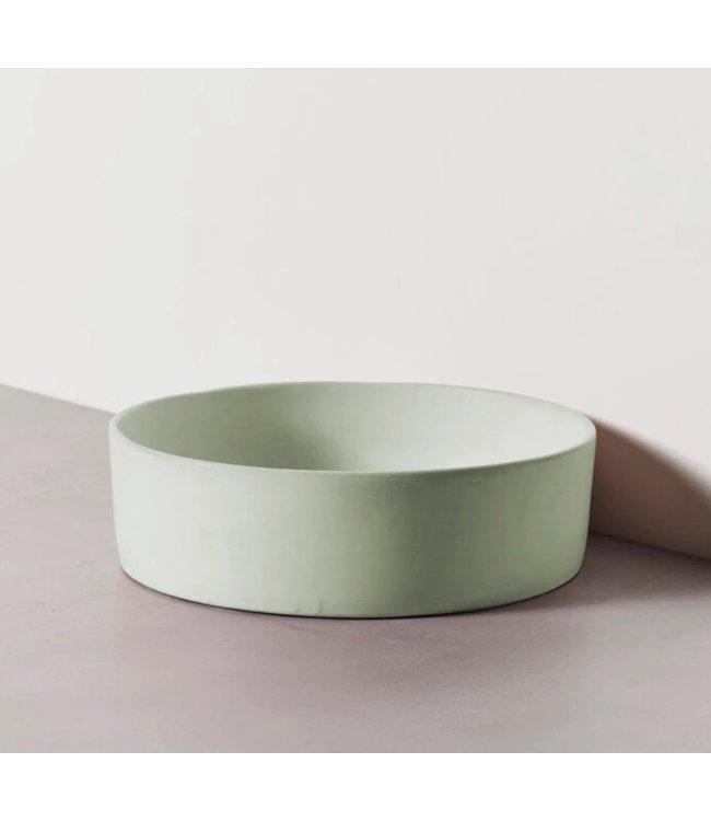 Silky concrete waskom gecoat groen mint 36,5x36,5x11cm