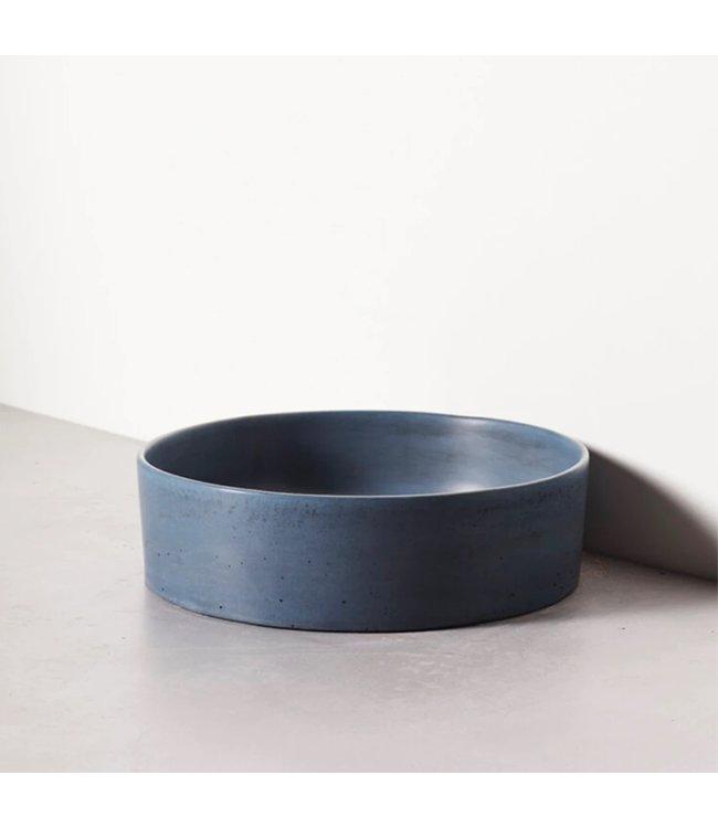 Silky concrete waskom gecoat antraciet  36,5x36,5x11cm